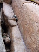 Rock Climbing Photo: Working the pump.  Great scale shot taken by our p...