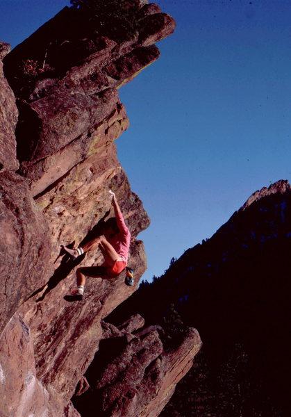 West O, classic Flagstaff hb, Monkey Traverse Wall.