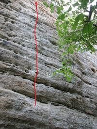 Rock Climbing Photo: J Rat's Back 5.12a