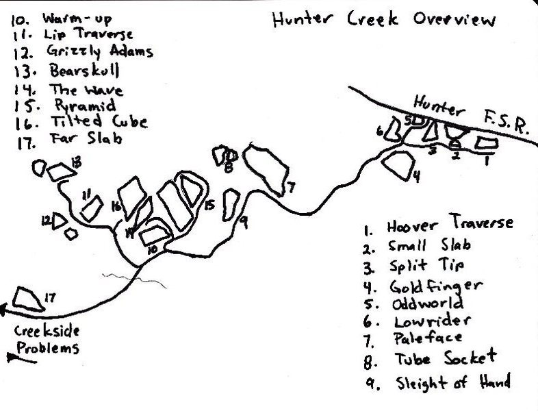 Hunter Creek Map