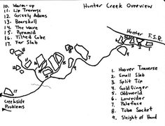 Rock Climbing Photo: Hunter Creek Map