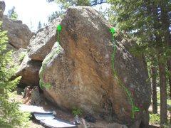 Rock Climbing Photo: Left route.