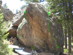 Rock Climbing Photo: Right route.