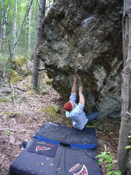 Rock Climbing Photo: Sean Gwaltney on a V6 variant of A Steady Diet of ...