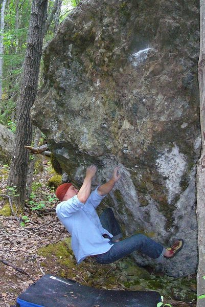 Rock Climbing Photo: Sean Gwaltney on A Steady Diet of Frostbite V6/7, ...