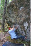 Rock Climbing Photo: Sean Gwaltney on A Steady Diet of Frostbite V6/7, ...