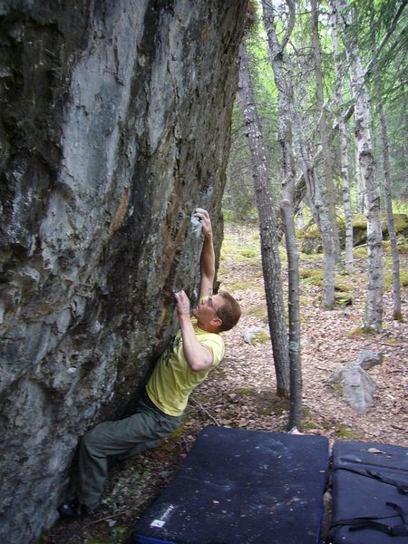 Rock Climbing Photo: Finger on the Trigger V5, Frostbite Boulders, Eagl...