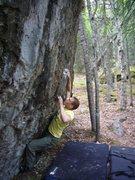 Rock Climbing Photo: Finger on the Trigger V5, Frostbite Boulders, Eagl...