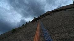 Rock Climbing Photo: The rappel.