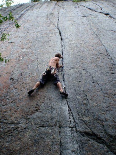 Rock Climbing Photo: Jaime on Zabba (5.13b)