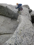 Rock Climbing Photo: James on pitch 5.