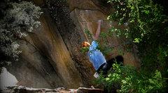 Rock Climbing Photo: Luke Childers climbing Thievery.