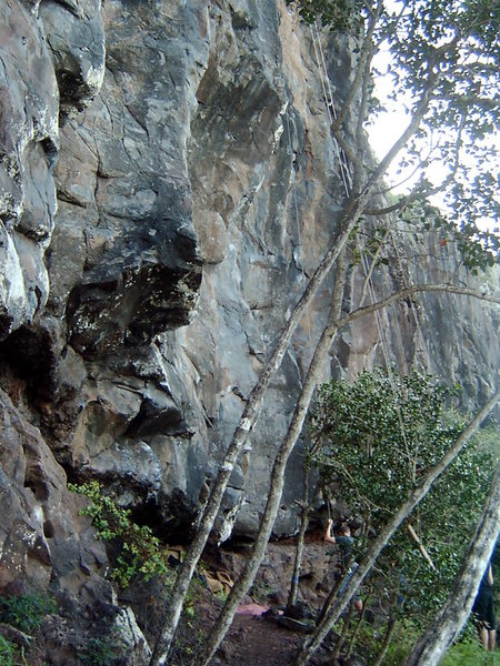 Rock Climbing Photo: Base of the Mokuleia Wall