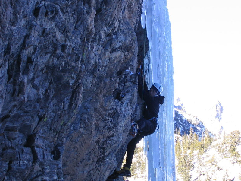 Mixed Emotions '04. Climbing with a broken hand.