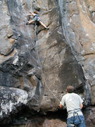 Rock Climbing Photo: The beginning of the route