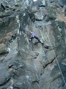 Rock Climbing Photo: First crux