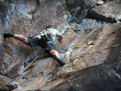 Rock Climbing Photo: Me on the first crux