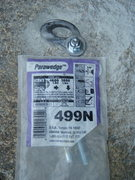 """Rock Climbing Photo: A """"cheap"""" wedge bolt from Lowe's and an ..."""
