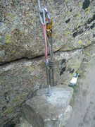 Rock Climbing Photo: The drop test block in position. It was set up to ...