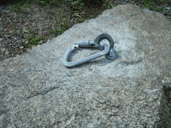 Rock Climbing Photo: The bolt, hanger and biner on the test block got k...
