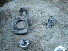 "Rock Climbing Photo: The ""cheap"" bolt from Lowe's didn't fail..."