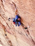 "Rock Climbing Photo: Jon M on ""I Claudius"" Shelf Rd."