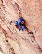 "Rock Climbing Photo: Jon M on ""I Claudius"" Shelf Rd."