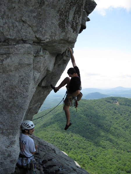 Rock Climbing Photo: Tim Leyden on Stannard's Crack. Jody Jacobs belayi...