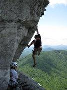 Rock Climbing Photo: Tim Leyden on Stannard's Crack. Jody Jacobs belayi...