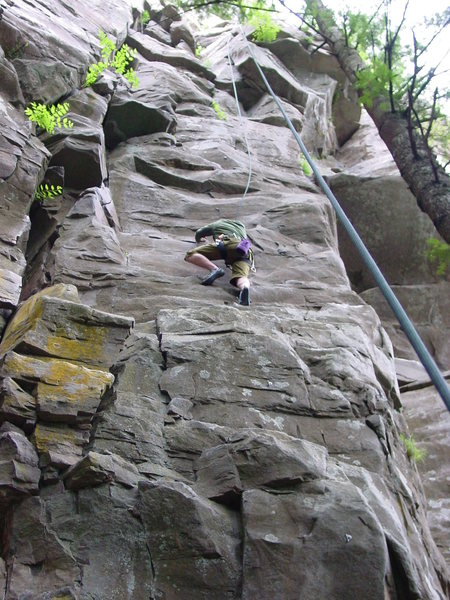 Rock Climbing Photo: Another view of Snake Face from the belay platform...