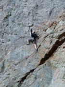 Rock Climbing Photo: Holly low on IITBA