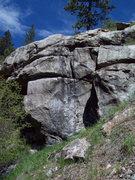 Rock Climbing Photo: Al Cap outcrop, and the No Equity route 5.12.