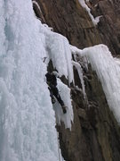 """Rock Climbing Photo: Leading """"Le Pissoir"""" at the Ouray Ice Pa..."""