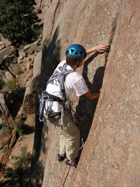 Rock Climbing Photo: Jamming the crack.