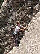 Rock Climbing Photo: Tristan leading Moby Grape.