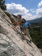 Rock Climbing Photo: Tristan leading one of the easy pitches higher up ...
