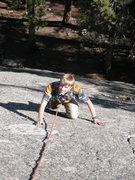 Rock Climbing Photo: Tristan frictioning up Black Slab Right.