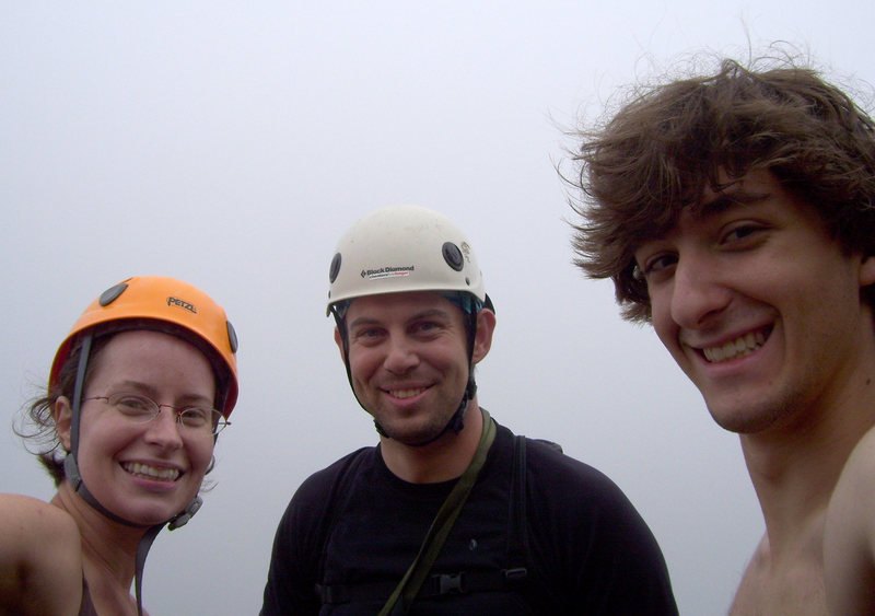 Rock Climbing Photo: Chris, Jay and I on the summit of Great Head in Ac...
