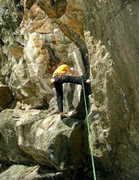 "Rock Climbing Photo: working ""Heaven"" at Rumney"