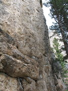 Rock Climbing Photo: The line follows the rib on the right side of the ...