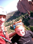 Rock Climbing Photo: Top of the first pitch with the girlfriend