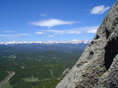 Rock Climbing Photo: The views from atop P1, halfway up Thorodins 1st b...