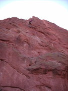Rock Climbing Photo: Rapelling off. I did it with one 60m rope, and had...