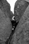 Rock Climbing Photo: Peter doing a fine job of it.