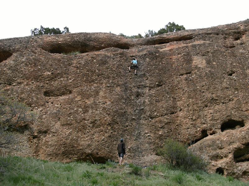 Rock Climbing Photo: Climbing party on Maple Jones