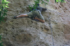 Rock Climbing Photo: One more of Rich on Third Degree in his sandal's.