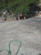 Rock Climbing Photo: Paul following LSD.