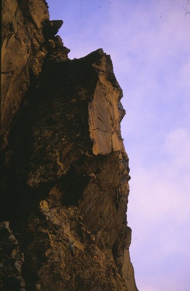 High Performance takes the overhanging crack to the right of the arete