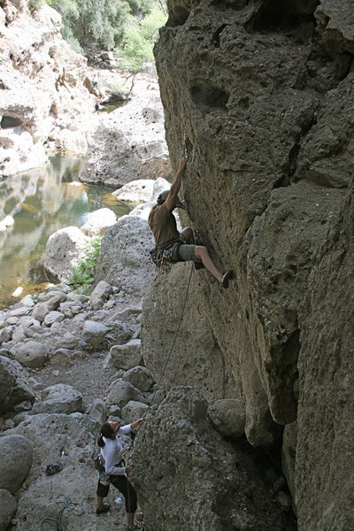 Rock Climbing Photo: Nathan on Chimps Ahoy just passing the 1st bolt. 6...