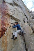 Rock Climbing Photo: Greg Jackson starts up the jagged 'V8 Crack'